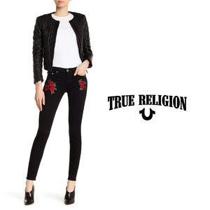 TRUE RELIGION | Super Skinny Embroidered Jeans